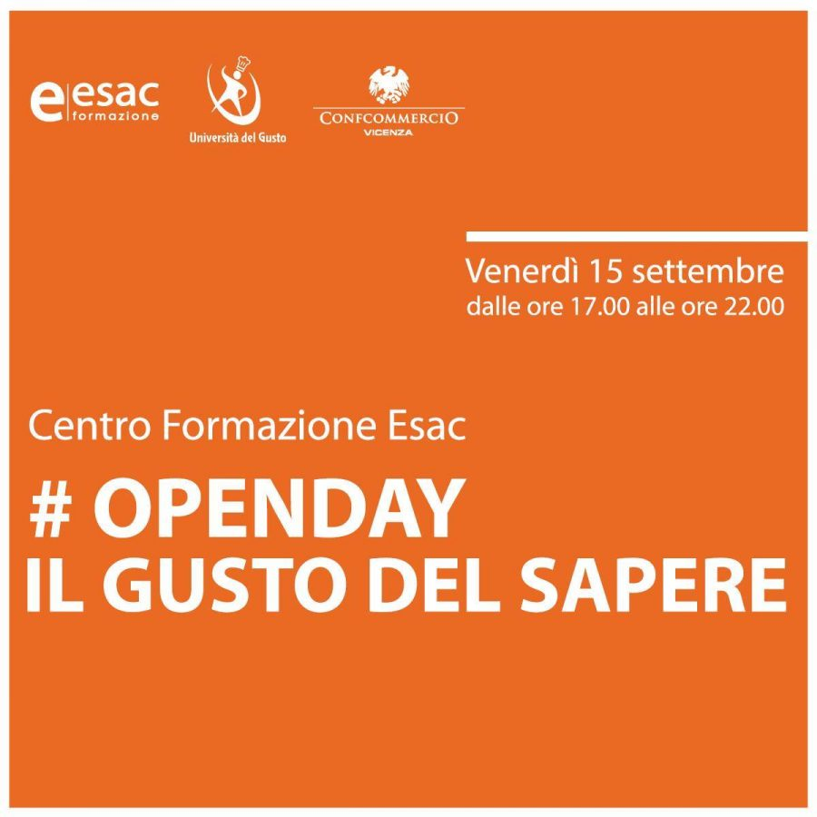 OPEN DAY ESAC: COOKING SHOW PASTA 18.30 – 19.30 con Renato Rizzardi