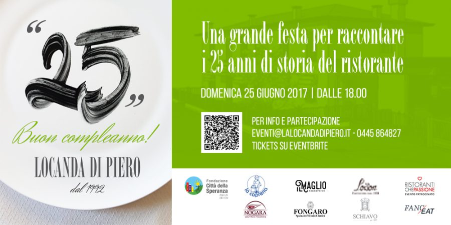 """""""25"""" ~ una grande festa per raccontare i 25 anni del ristorante"""