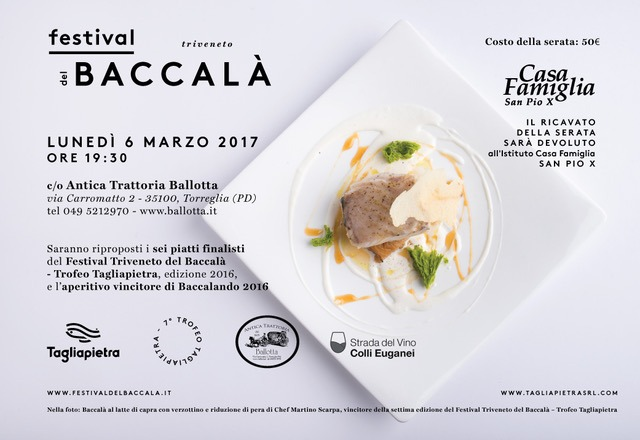Un'altra occasione per gustare i piatti premiati del Festival Triveneto del Baccalà 2016!