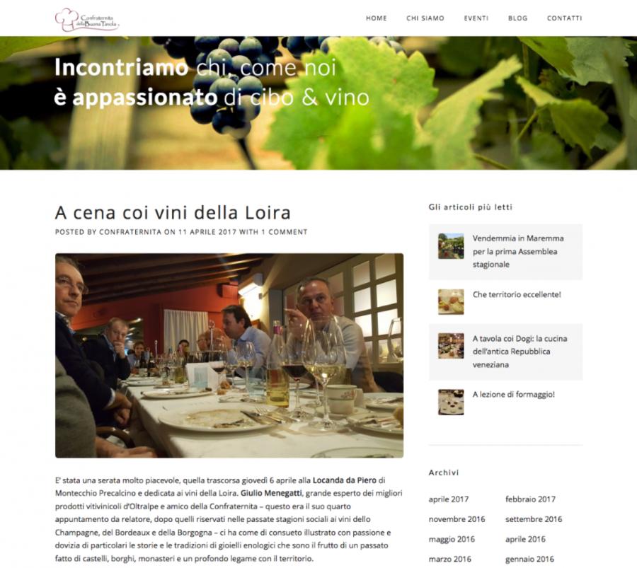 Confraternita della Buona tavola – A cena coi vini della Loira