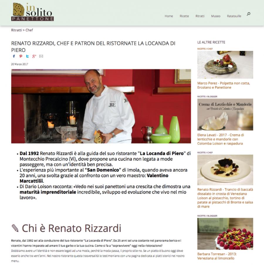 """Renato Rizzardi, Chef E patron del Ristornate """"La Locanda di Piero"""""""